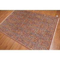 Pure Wool Modern Eclectic Oriental Area Rug - 5'X8'