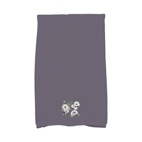 Radiant Rose 16 x 25 Inch Floral Print Hand Towel