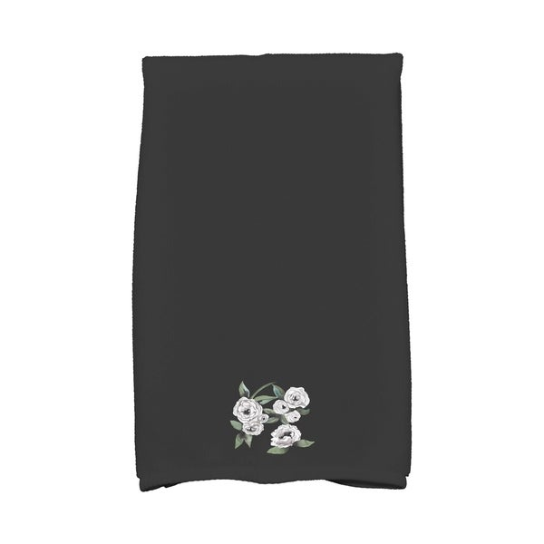 Radiant Rose 16 x 25 Inch Floral Print Hand Towel. Opens flyout.