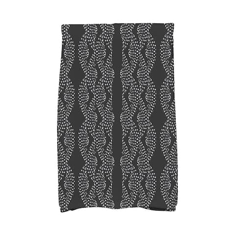 Dotted Décor 16 x 25 Inch Stripe Print Hand Towel