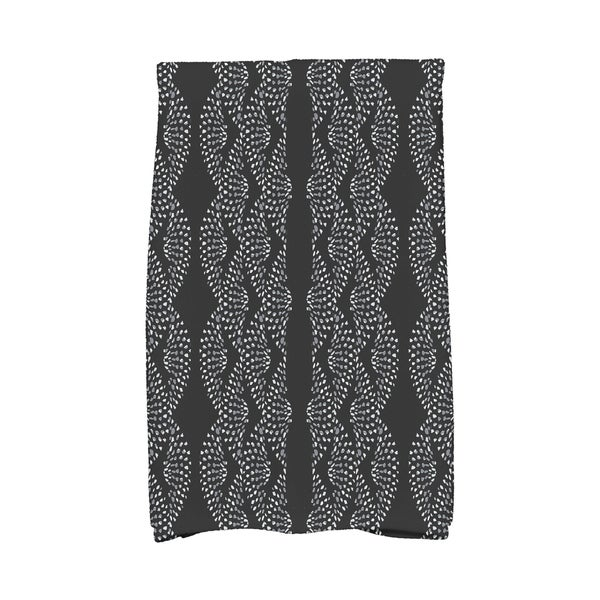 Dotted Décor 16 x 25 Inch Stripe Print Hand Towel. Opens flyout.