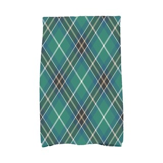 Mad for Plaid 16 x 25 Inch Holiday Print Hand Towel