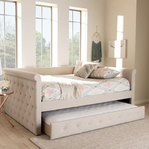 Gracewood Hollow Erdrich Upholstered Daybed with Trundle