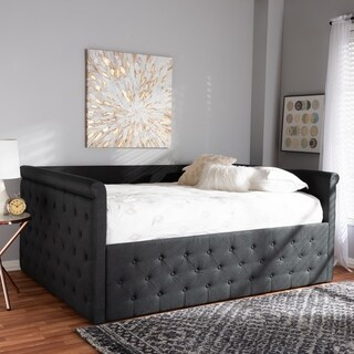 Contemporary Fabric Upholstered Daybed by Baxton Studio