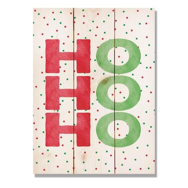 Ho, Ho, Ho - 11x15 Indoor/Outdoor Wall Art - Multi-color