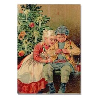 Christmas Kids - 14x20 Indoor/Outdoor Wall Art - Multi-color