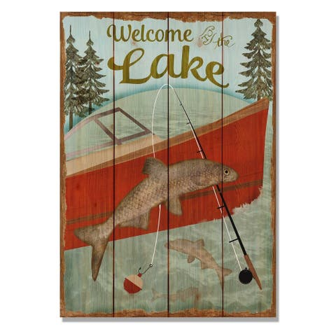 Welcome Lake - 14x20 Indoor/Outdoor Wall Art - Multi-color