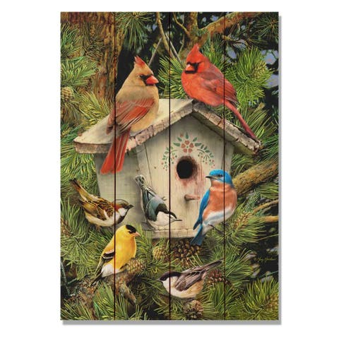Giordano's Birdhouse - 14x20 Indoor/Outdoor Wall Art - Multi-color