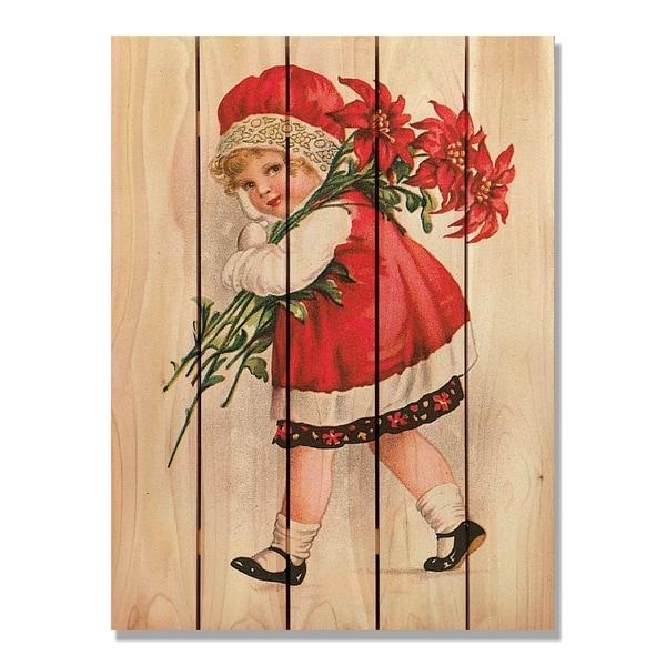 Red Girl - 28x36 - Indoor/Outdoor Cedar Wall Art - Multi-color