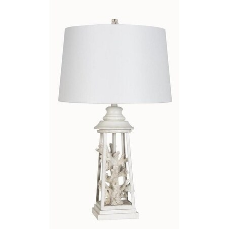 Lamps Per Se 27.5- inch White Coral Table Lamp (Set of 2)