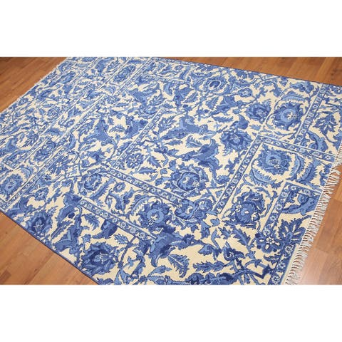 Traditional Chinese Art Deco Oriental Area Rug - 6' x 9'