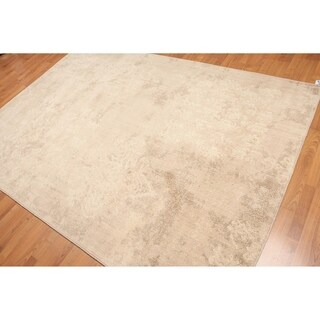 Modern Grunge Distress Look Hand-Knotted Area Rug - 6'x9'