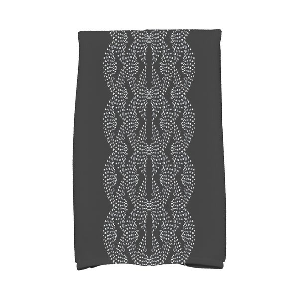 Dotted Focus 16 x 25 Inch Geometric Print Hand Towel. Opens flyout.