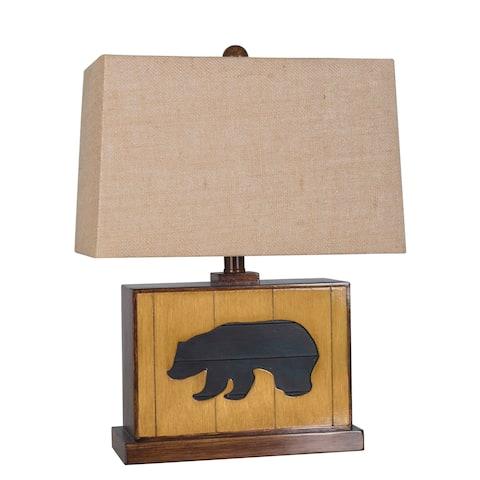 Lamp Per Se 19.25- inch Bear Table Lamp (Set of 2) - N/A