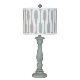 Lamps Per Se 25.5- inch Blue Paddle Table Lamp (Set of 2)