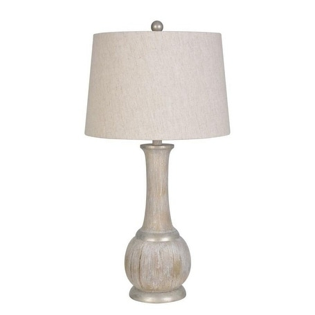 Shop Lamps Per Se 28 5 Inch Washed Wood Table Lamp Set Of 2