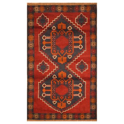 Handmade One-of-a-Kind Balouchi Wool Rug (Afghanistan) - 3' x 4'9