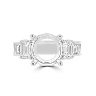 La Vita Vital 18K White Gold Diamond 2.05cts TDW Semi Mount Ring