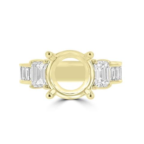 La Vita Vital 18K Yellow Gold Diamond 2.05cts TDW Semi Mount Ring