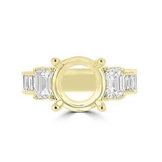 La Vita Vital 18K Yellow Gold Diamond 2.05cts TDW Semi Mount Ring