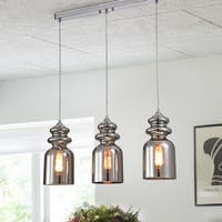 Herodion Chrome 3-Light Pendant with Clear Shade