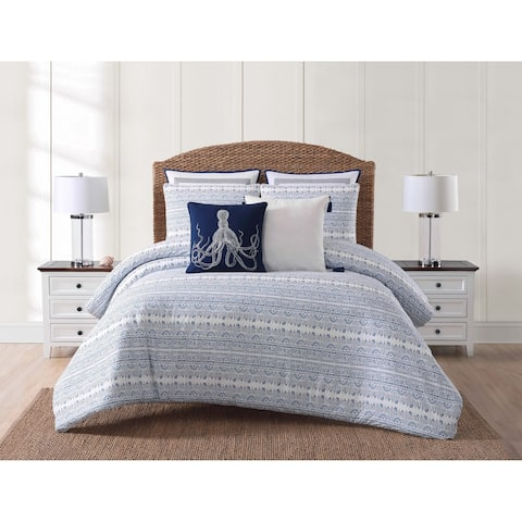 Oceanfront Resort Reef Point Printed 3 Comforter Set