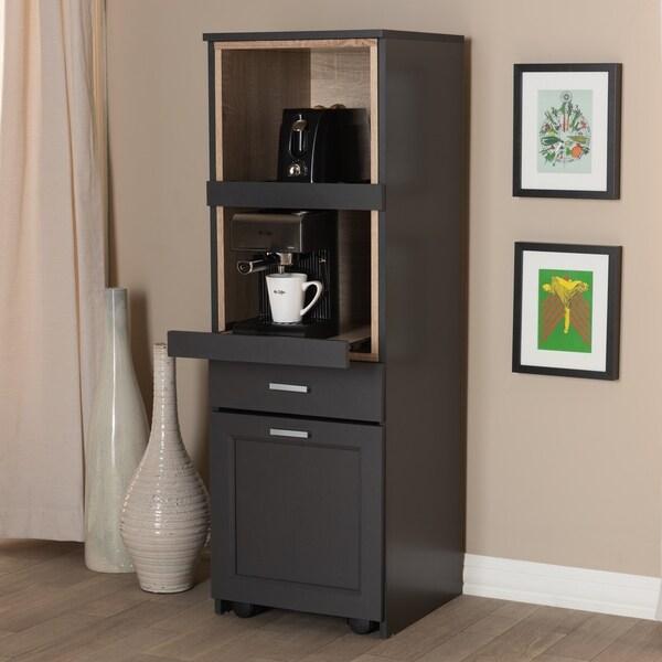 Brown Kitchen Cabinets: Shop Porch & Den Stacy Dark Grey And Oak Brown Kitchen