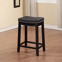 Copper Grove Agatha Backless Counter Stool in Black (As Is Item)