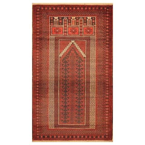Handmade One-of-a-Kind Balouchi Wool Rug (Afghanistan) - 3' x 4'10