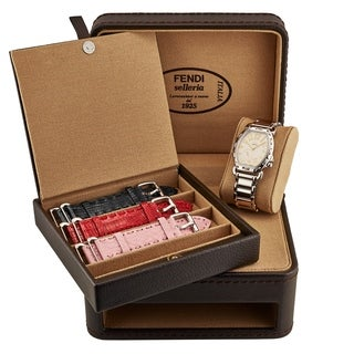 Fendi Women's F84234H/SET 'Selleria' Silver Dial Stainless Steel Swiss Quartz Set Watch