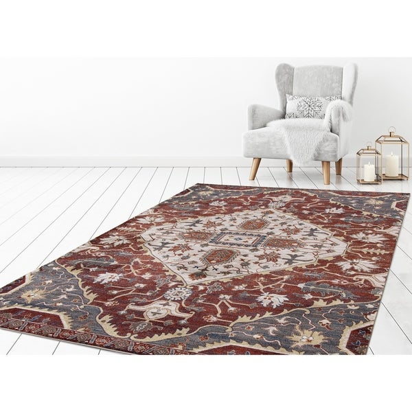 Shop Concord Global Olympus Gem Red Area Rug 7 10 Quot X 10