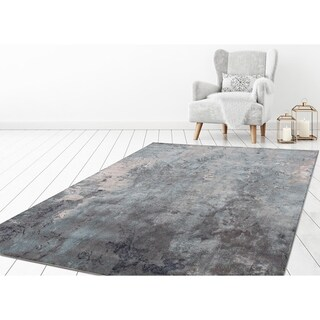 "Concord Global Olympus Marble Blue Area Rug - 7'10"" x 10'6"""