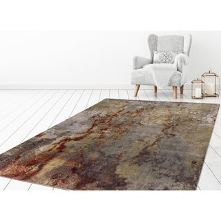 """Concord Global Olympus Marble Red Area Rug - 6'7"""" x 9'3"""""""