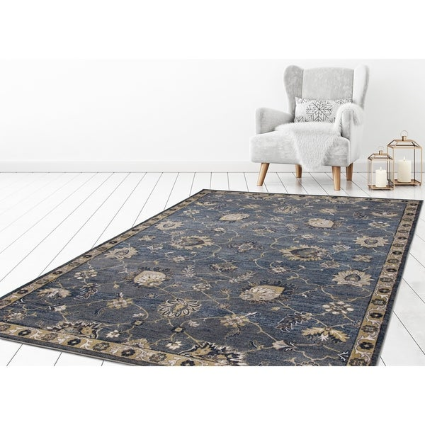 "Concord Global Olympus Taj Navy Area Rug - 6'7"" x 9'3"""