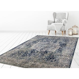 "Concord Global Olympus Vintage Blue Area Rug - 7'10"" x 10'6"""