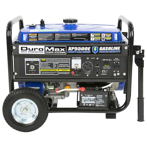 DuroMax XP5500E 5500-Watt 7.5-Hp 36.6-Amp Portable Electric Start Gas Powered Generator