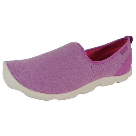 Crocs Womens Duet Busy Day Heather Skimmer Shoes Orchid/Stucco
