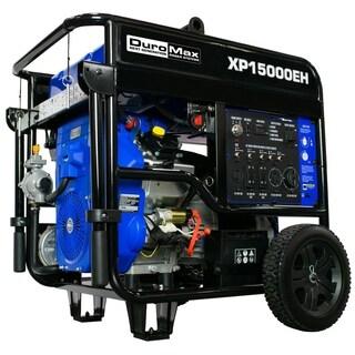 DuroMax XP15000EH 15000-Watt V-Twin Electric Start Dual Fuel Hybrid Portable Generator