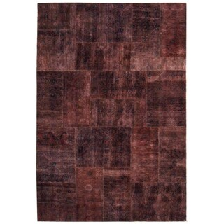 Wool Patchwork Rug - 6'2'' x 10'4''