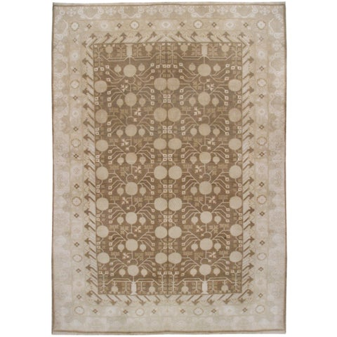 Wool and Silk Khotan Rug - 9'10'' x 13'6''