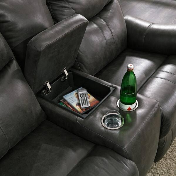 Amazing Shop Logan Passion Slate Microfiber Power Dual Reclining Pabps2019 Chair Design Images Pabps2019Com
