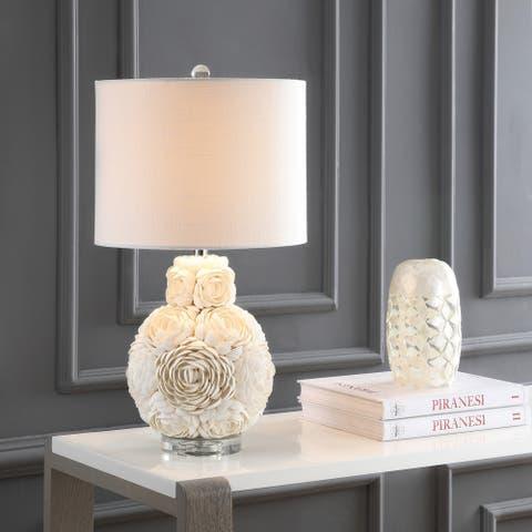 "Seashell Rosette 24"" LED Table Lamp, Cream by JONATHAN Y"