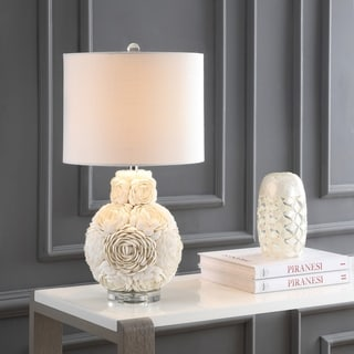 "Link to Seashell Rosette 24"" LED Table Lamp, Cream  by JONATHAN  Y Similar Items in Table Lamps"