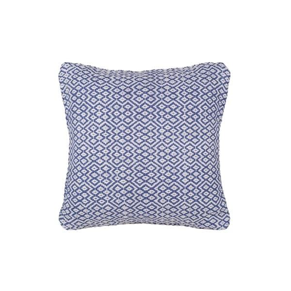 "Handmade Bodhi Blue Cotton Pillow - 20"" x 20"" (India)"