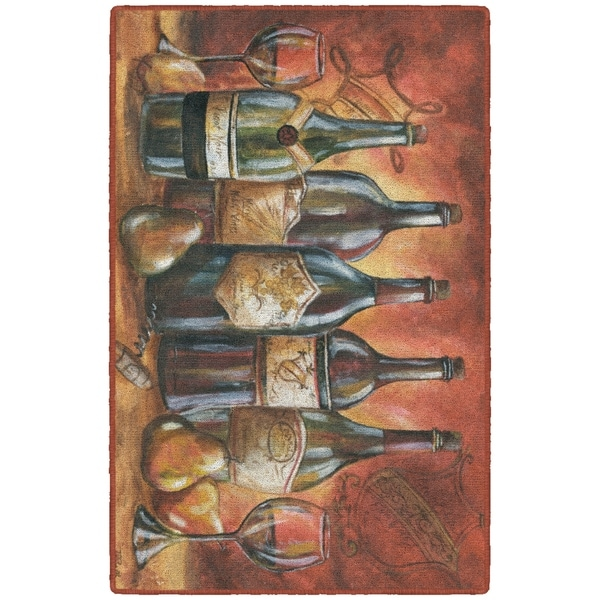 Brumlow Mills Red and Gold Wine Landscape, Kitchen Rug by Tre ... on