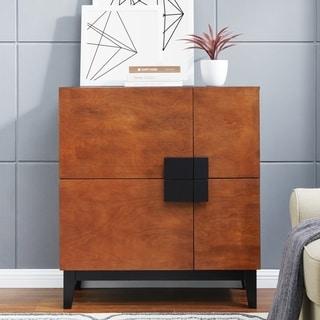 Holly & Martin Hazle Dark Tobacco w/ Black 4-Door Anywhere Cabinet