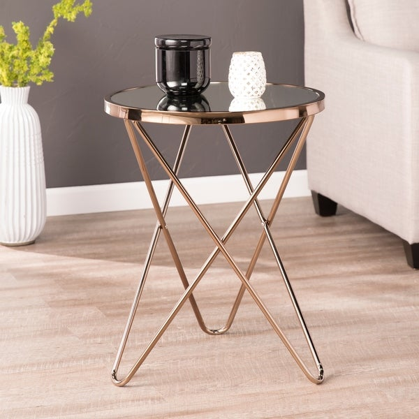 Shop Silver Orchid Grant Polished Champagne Accent Table