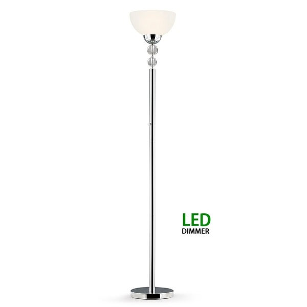 71 Inch Crystal Dimmer Led Torchiere Floor Lamp