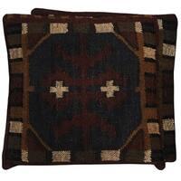Handmade Herat Oriental Indo Kilim 20'' Throw Pillows (Set of Two)