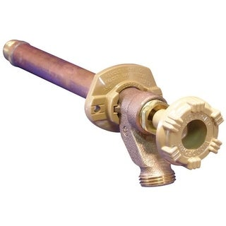 Woodford Model 14 3/4 in. MIP Dia. x 1/2 in. Dia. Sweat Brass 10 in. Wall Hydrant
